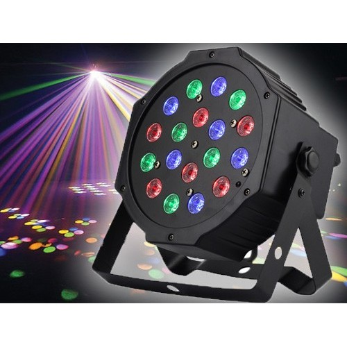 18pcs*3W RGB 3-IN-1 Plastic Indoor LED Par Light