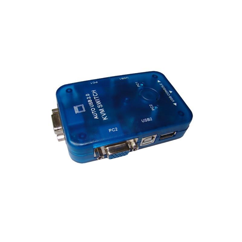 DATA SWITCH KVM 2PC ΣΕ 1VGA+2 USB