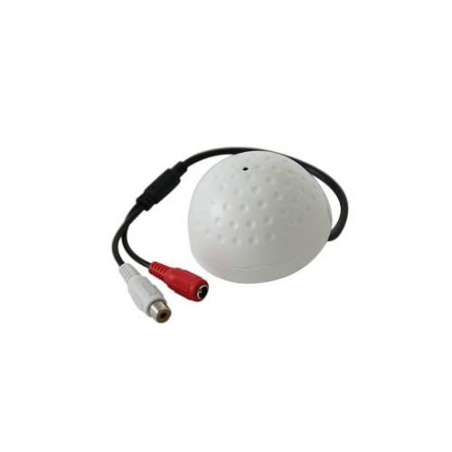 CCTV Mic for DVR - Ball Shape - White