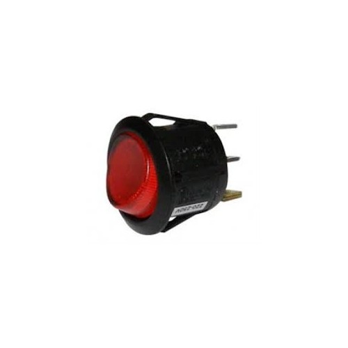 ROCKER SWITCH 3P WITH INDICATOR LIGHT ON-OFF 10A/250V RED