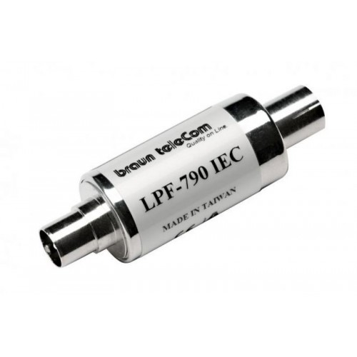 High quality cylinder type 4G LTE in-line low pass filter LPF-790 F type