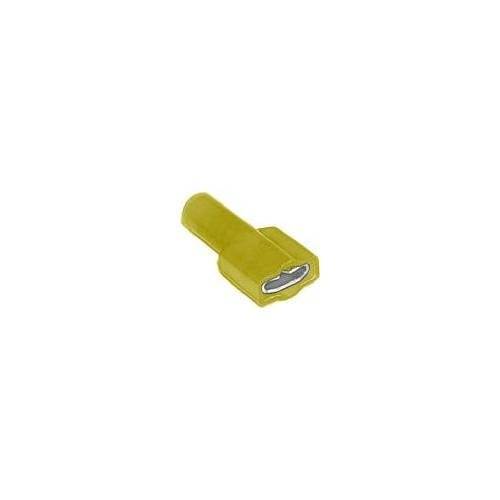 SLIDE CABLE LUG NYLON COATED (Χ/Α) FEMALE YELLOW F5-6.4AF/8 CHS