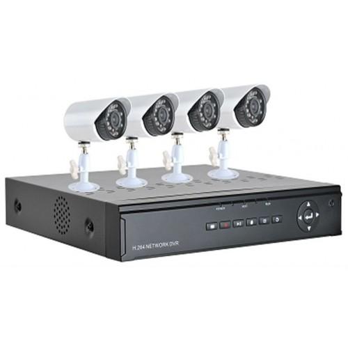 AHD SET DVR ΚΑΤΑΓΡΑΦΙΚΟ HDMI 4CH - H264 4CH +20m ΚΑΛΩΔΙΑ + ΤΡΟΦΟΔΟΤΙΚΑ