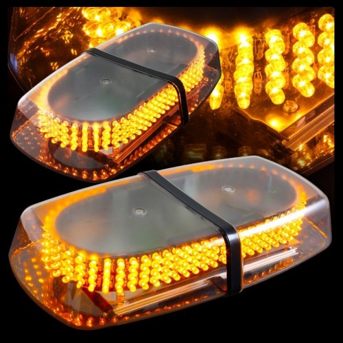 240 LED Light Bar Roof Top Emergency Hazard Warning Flash Strobe Yellow Amber