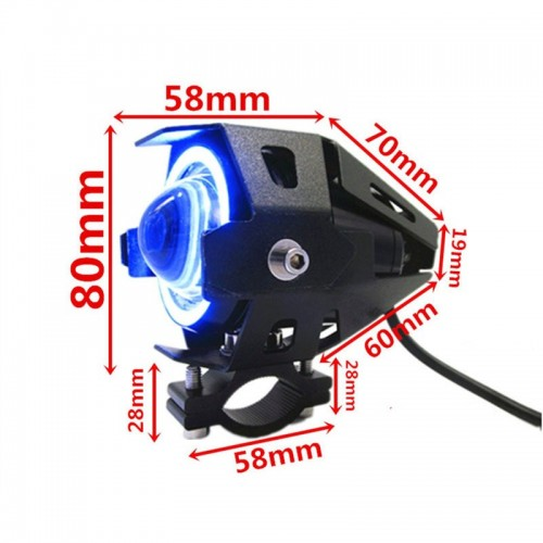 U7 LED Fog Light Bike Driving DRL Fog Light Spotlight, High/Low Beam