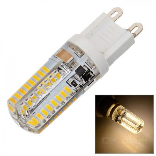 G9 3W 384lm 3000K 64*SMD 3014 LED Warm White Lamp (220V)