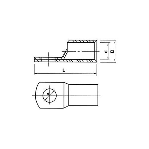 ΑΚΡΟΔΕΚΤΗΣ ΟΡΕΙΧΑΛΚΙΝΟΣ ΟΠΗΣ Φ16 ΚΑΛΩΔΙΟΥ 11.5mm