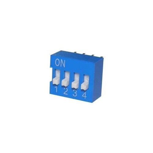 DIP SWITCHES 4 POSITION EDG SERIES