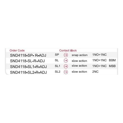 SND4118-SL3-C 2NO