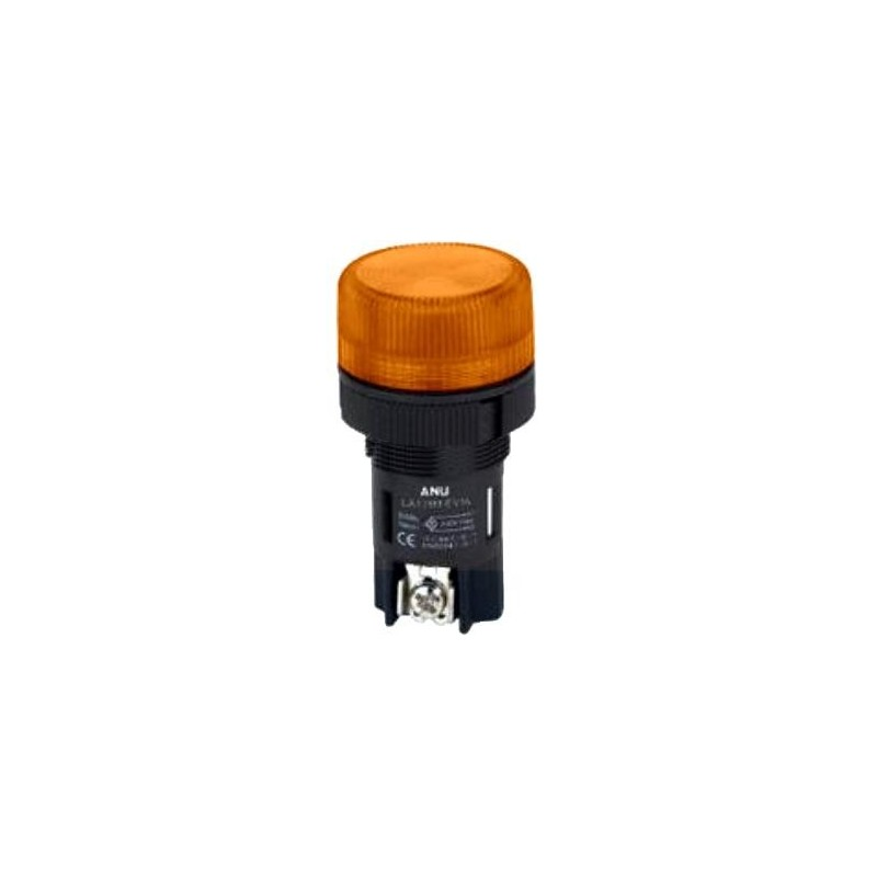 INDICATOR LAMP SCREW-MOUNT Φ22 NO CABLE 220V YELLOW XH003 XND