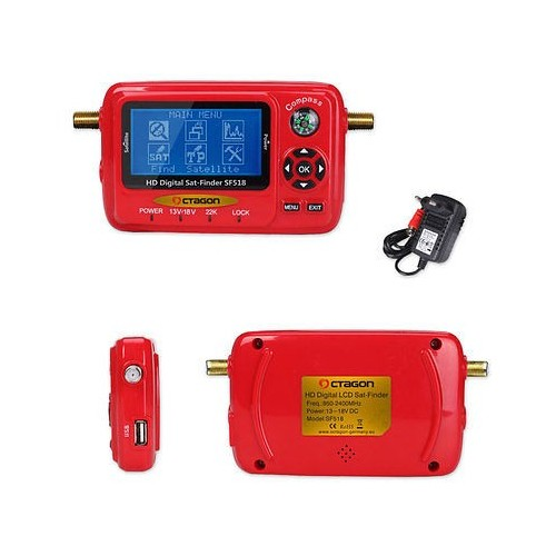 OCTAGON SAT-FINDER LCD HD USB 2.0 Spektrum