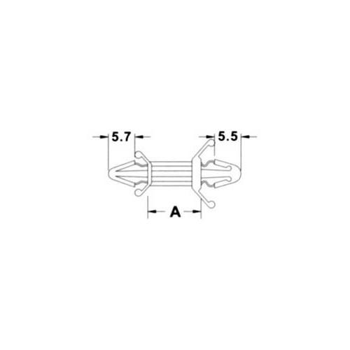 PLASTIC STANDOFF 6.4mm CS-0406 KSS