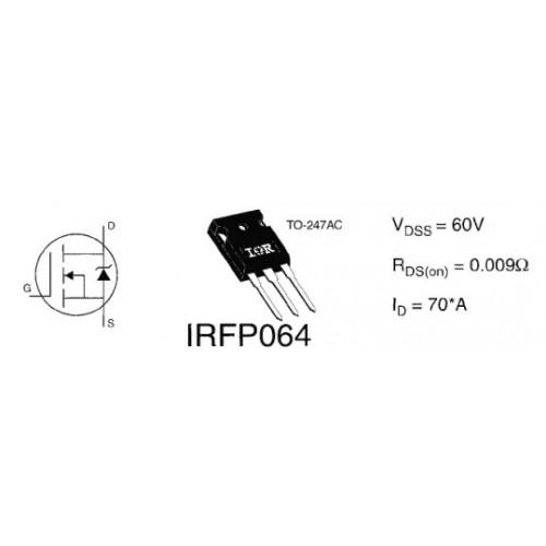 ΤΡΑΝΖΙΣΤΟΡ MOSFET IRFP064NPBF
