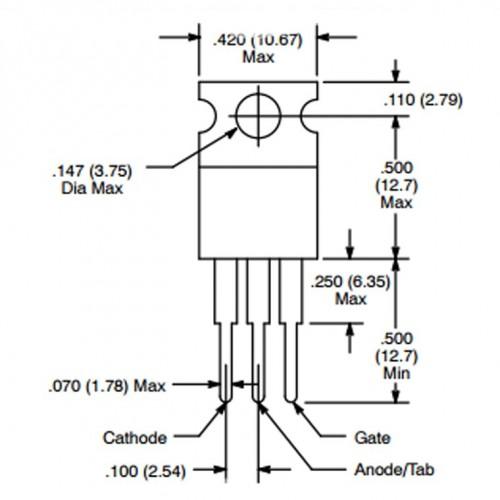 TYN416 TRIAC - THYRISTOR