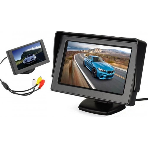 "4.3\"" TFT LCD Car Rear View Color Camera Monitor & DVD"