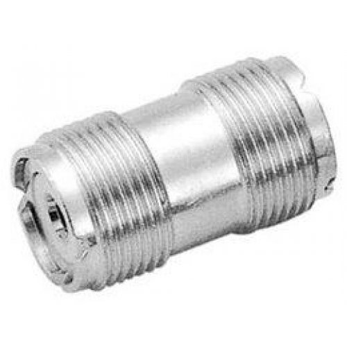 Silver Metal S0-239 UHF Double Female Coax Adapter Connector Plug TS