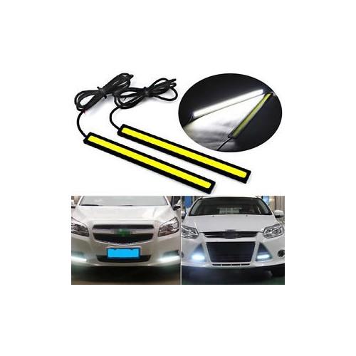 Комплект LED светодиодна дневна светлина за автомобил 12V COB DRL - 17см бяла