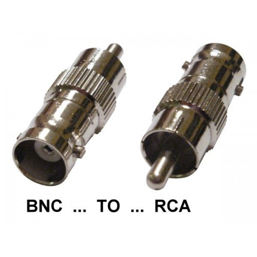 BNC FEMALE TO RCA PHONO MALE CONNECTORS CCTV