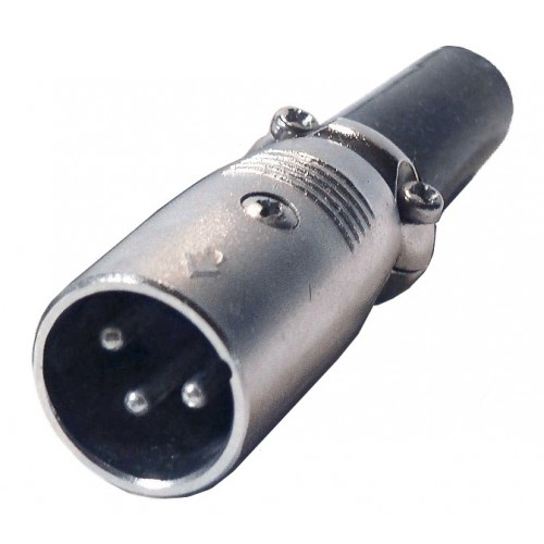 XLR Audio Connector, 3 Contacts, Plug, Cable Mount