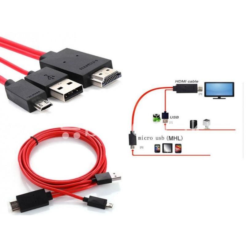 ΚΑΛΩΔΙΟ MHL - HDMI + USB