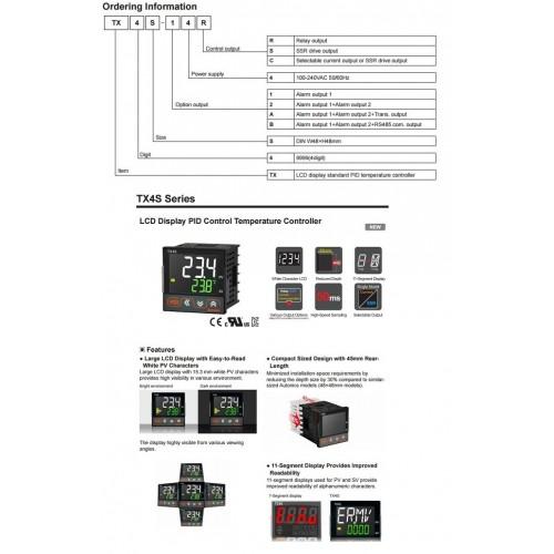 ΕΛΕΓΚΤΗΣ ΘΕΡΜΟΚΡΑΣΙΑΣ ΨΗΦΙΑΚΟΣ 48X48 LCD ΜΕ ΡΕΛΕ 1C/O