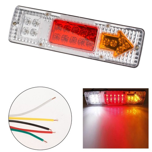 19 LED Tail Light Car Truck Trailer Stop Rear Reverse Turn