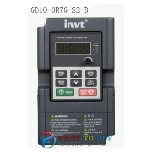 INVERTER GD10 1PHASE INPUT 230V /3PHASE OUTPUT 230V 0.75KW INVT