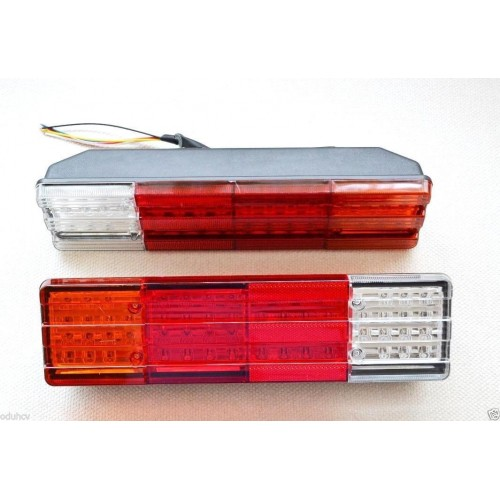 2x 12V LED Rear Tail Lights Lamps Truck Trailer Tipper Chassis Motorhome Camper