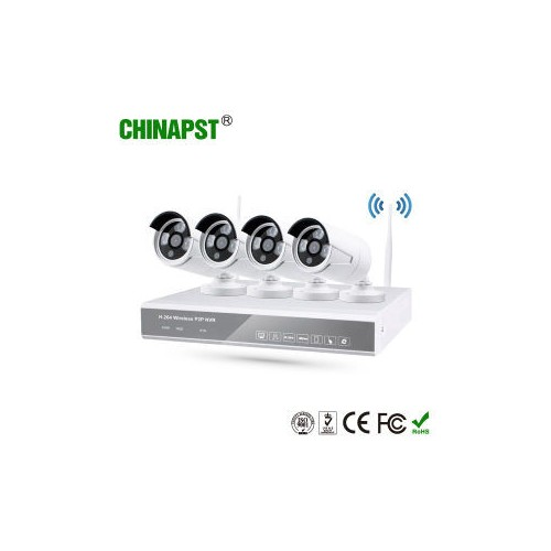 4CH Wireless HD WIFI IP Cameras+WIFI NVR Kit