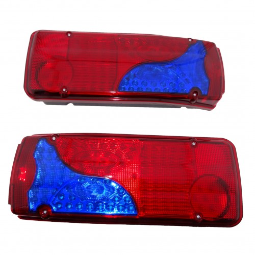 Два LED стопове мигач задна светлина 24v за камион бус ТИР, ремарке 40 x 15 CM