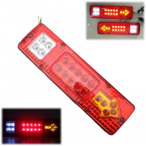 LED REAR TAIL LIGHTS LAMP 5 FUNCTION TRAILER CARAVAN TRUCK LORRY 19 LED