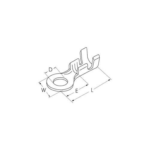 ΓΥΜΝΟΣ ΑΚΡΟΔΕΚΤΗΣ FASTON ΡΟΔΕΛΑ ΜΕ ΟΠΗ 4,4mm ΓΙΑ ΑΓΩΓΟΥΣ 2,5mm