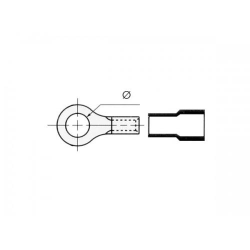ΑΚΡΟΔΕΚΤΗΣ FASTON ΟΠΗΣ ΜΟΝΩΜΕΝΟΣ 6.5mm ΓΙΑ ΑΓΩΓΟΥΣ 4mm
