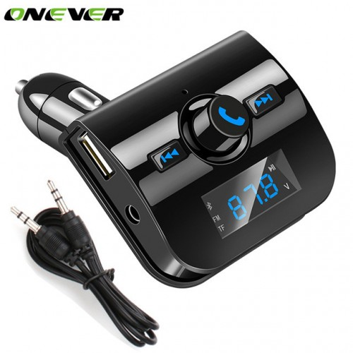 Car-styling Bluetooth MP3 Player Bluetooth Handsfree Car Kit FM Transmitter Dual USB Charger for Phones
