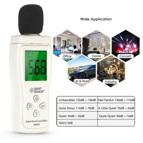 Mini Sound Level Meter Digital decibel meter tester 30dB -130dBA