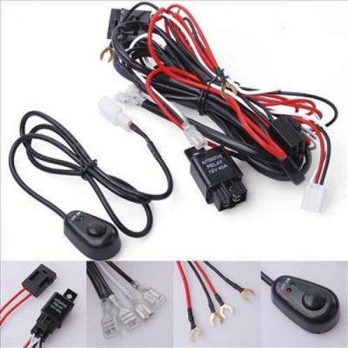 Details about  Fog Light Relay Harness Wire Kit HID LED Lamp Worklamp Spot Work Driving Bar C03