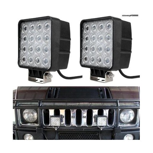 48W 12V 24V SPOT Lamp Led Work Light Boat Tractor Truck Offroad