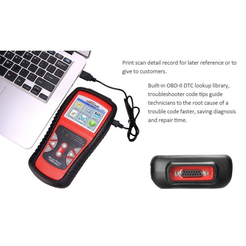 KW830 AL519 OBD2 EOBD Car Fault Code Reader Scanner Automotive Diagnostic Code Readers & Scan Tools Can Test Battery