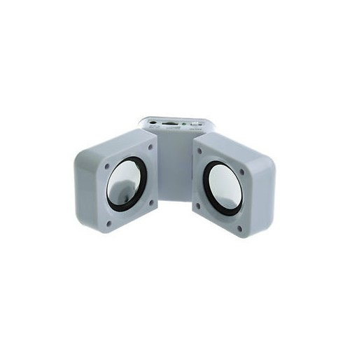 White Portable Folding Stereo Mini Speaker