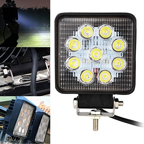 27W Square LED Work Light Flood Truck ATV Boat 4x4 Off Road‎