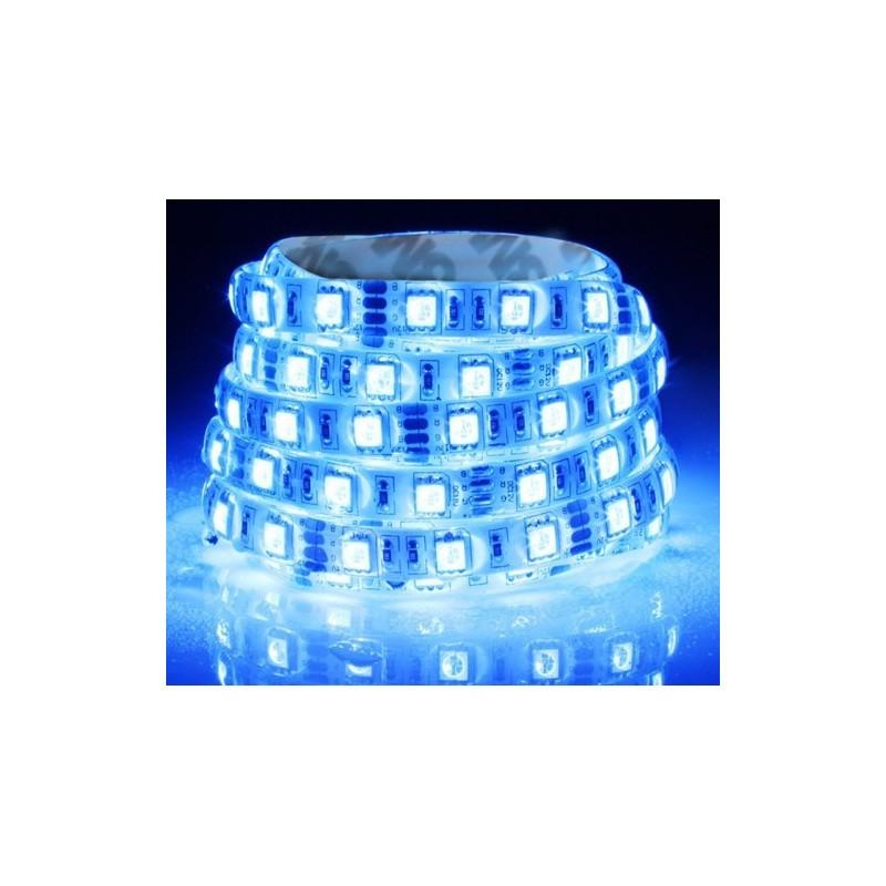ΕΥΚΑΜΠΤΗ ΑΔΙΑΒΡΟΧΗ ΤΑΙΝΙΑ ΜΕ ΜΠΛΕ LED 12V 14,4W/m (ΤΙΜΗ ΜΕΤΡΟΥ)