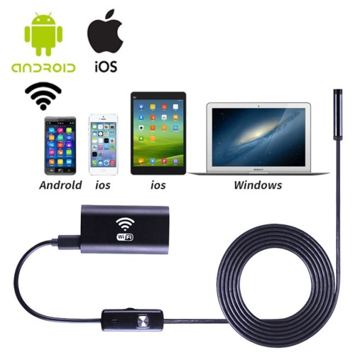 Wifi HD 720P Endoscope for Android IOS Windows Borescope Waterproof Inspection Endoscope Camera with Wifi Box