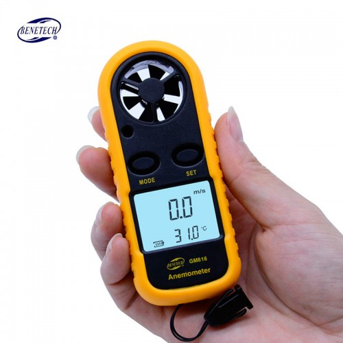 GM816 Anemometer Wind Speed Meter Thermometer