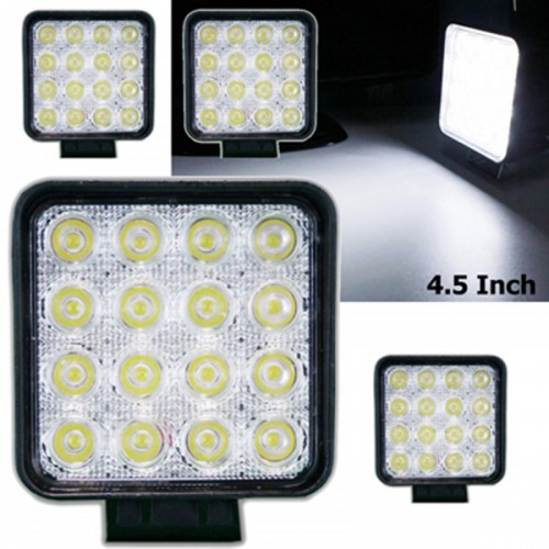 LED Work Light 6000k Spot Beam for ATV Jeep Wrangler 4x4 Rv Trailer Fishing Boat Tractor Truck