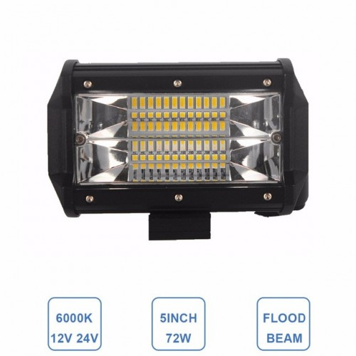 Offroad 5INCH 72W LED WORK LIGHT BAR FLOOD LIGHT 12V 24V CAR TRUCK SUV BOAT ATV 4X4 4WD TRAILER WAGON PICKUP DRIVING LED LAMP