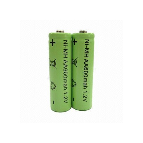 AA 600mAh 1.2V NI-MH Green Rechargeable Battery