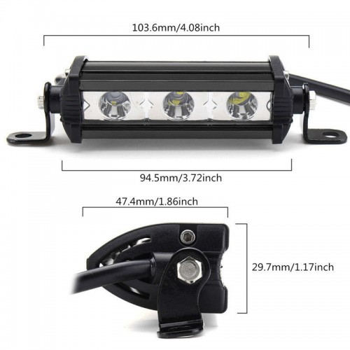 4 inch 9W Cree Chips LED Spot Flood Ultra Slim Single LED Light BarWork