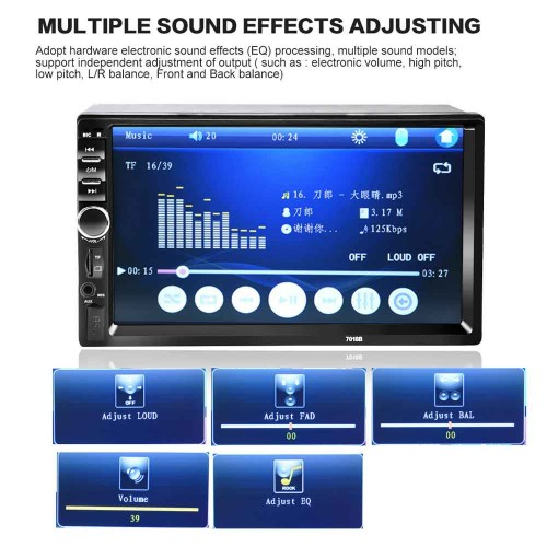7018B 7 Inch Bluetooth V2.0 Car MP5 Player