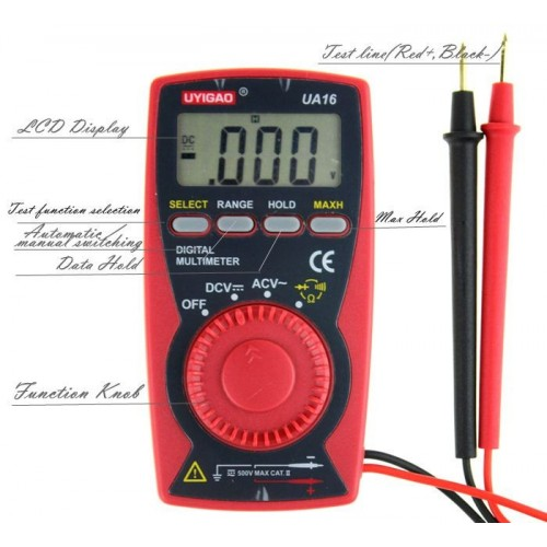 UYIGAO UA16 digital multimeter , ultra-thin notebook multimeter