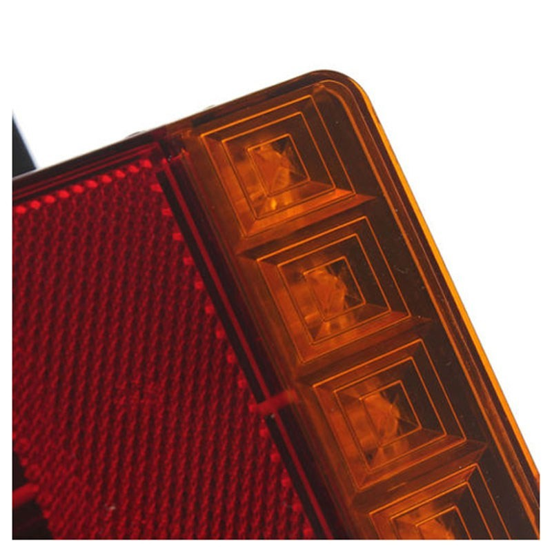 Car LED Tail Light Rear Lamps Pair Boat Trailer 12V
